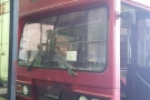The Red Bus being worked on at Westrans Services